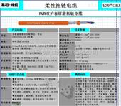 聚氨酯PUR拖链电缆 机器人电缆 4*0.5进口替代 TKD